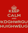 KEEP CALM AND BJKDGHWRGUIH GEHUIGHWEUGYE - Personalised Poster A4 size