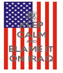 KEEP CALM AND BLAME IT ON IRAQ - Personalised Poster A4 size