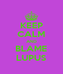 KEEP CALM AND BLAME LUPUS - Personalised Poster A4 size