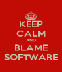KEEP CALM AND BLAME SOFTWARE - Personalised Poster A4 size
