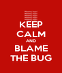 KEEP CALM AND BLAME THE BUG - Personalised Poster A4 size