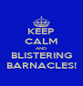 KEEP CALM AND BLISTERING BARNACLES! - Personalised Poster A4 size