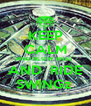 KEEP CALM AND BLOW BIGG  AND  RIDE SWINGz  - Personalised Poster A4 size