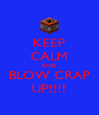 KEEP CALM AND BLOW CRAP UP!!!! - Personalised Poster A4 size