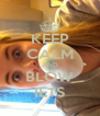 KEEP CALM AND BLOW IETS - Personalised Poster A4 size