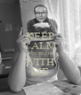 KEEP CALM AND BLOW WITH ME - Personalised Poster A4 size