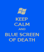 KEEP CALM AND BLUE SCREEN OF DEATH - Personalised Poster A4 size