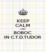 KEEP CALM AND BOBOC IN C.T.D.TUDOR - Personalised Poster A4 size
