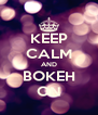 KEEP CALM AND BOKEH ON - Personalised Poster A4 size