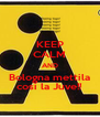 KEEP CALM AND Bologna mettila così la Juve!! - Personalised Poster A4 size