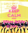 KEEP CALM AND BOM BOM BOM ~! - Personalised Poster A4 size