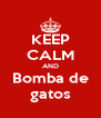 KEEP CALM AND Bomba de gatos - Personalised Poster A4 size