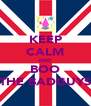 KEEP CALM AND BOO THE BADGUYS - Personalised Poster A4 size