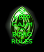 KEEP CALM AND BORG RULES - Personalised Poster A4 size