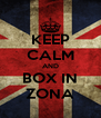 KEEP CALM AND BOX IN ZONA - Personalised Poster A4 size