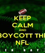 KEEP CALM AND BOYCOTT THE NFL - Personalised Poster A4 size