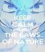 KEEP CALM AND BREAK THE LAWS OF NATURE - Personalised Poster A4 size
