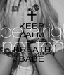 KEEP CALM AND BREATH BABE - Personalised Poster A4 size