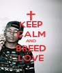 KEEP CALM AND BREED LOVE - Personalised Poster A4 size