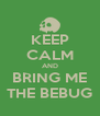 KEEP CALM AND BRING ME THE BEBUG - Personalised Poster A4 size