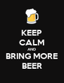 KEEP CALM AND BRING MORE BEER - Personalised Poster A4 size
