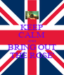 KEEP CALM AND BRING OUT THE ROSE' - Personalised Poster A4 size
