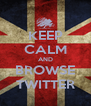 KEEP CALM AND BROWSE TWITTER - Personalised Poster A4 size