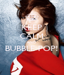 KEEP CALM AND BUBBLE POP!  - Personalised Poster A4 size