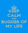 KEEP CALM AND BUGGER OF MY LİFE - Personalised Poster A4 size