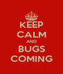 KEEP CALM AND BUGS COMING - Personalised Poster A4 size