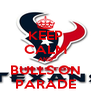 KEEP CALM AND BULLS ON PARADE - Personalised Poster A4 size
