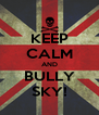 KEEP CALM AND BULLY SKY! - Personalised Poster A4 size
