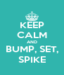 KEEP CALM AND BUMP, SET, SPIKE - Personalised Poster A4 size