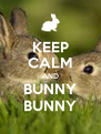 KEEP CALM AND BUNNY BUNNY - Personalised Poster A4 size