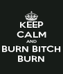 KEEP CALM AND BURN BITCH BURN - Personalised Poster A4 size