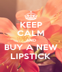 KEEP CALM AND BUY A NEW LIPSTICK - Personalised Poster A4 size