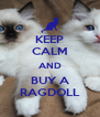 KEEP CALM AND BUY A RAGDOLL - Personalised Poster A4 size