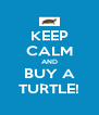 KEEP CALM AND BUY A TURTLE! - Personalised Poster A4 size