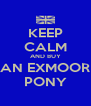 KEEP CALM AND BUY AN EXMOOR PONY - Personalised Poster A4 size