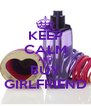KEEP CALM AND BUY GIRLFRIEND - Personalised Poster A4 size