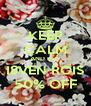 KEEP CALM AND BUY ISVEN ROIS 50% OFF - Personalised Poster A4 size