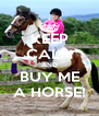 KEEP CALM AND BUY ME A HORSE! - Personalised Poster A4 size