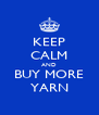 KEEP CALM AND BUY MORE YARN - Personalised Poster A4 size