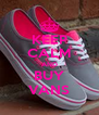 KEEP CALM AND BUY VANS - Personalised Poster A4 size
