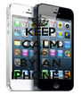 KEEP CALM AND BY AN IPHONE 5 - Personalised Poster A4 size