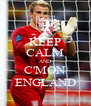 KEEP CALM AND C'MON ENGLAND - Personalised Poster A4 size