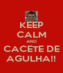 KEEP CALM AND CACETE DE AGULHA!! - Personalised Poster A4 size