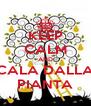 KEEP CALM AND CALA DALLA PIANTA - Personalised Poster A4 size