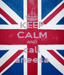 KEEP CALM AND call aneesa - Personalised Poster A4 size