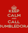 KEEP CALM AND CALL DUMBLEDORA - Personalised Poster A4 size